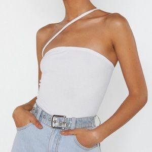 Nasty Gal one shoulder bodysuit, Size 4